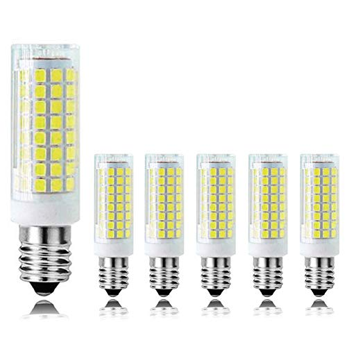 MD Lighting E14 10W Dimmable Chandelier LED Light Bulb(6 Pack), 6000K Daylight White 102 LED 2835-SMD 900LM Light Bulb for Electric Window Candle Lamp, 90 Watt Incandescent Bulb Equivalent, AC 120V