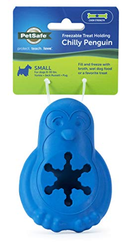 PetSafe Freezable Treat Holding Chilly Penguin Dog Toy, Small