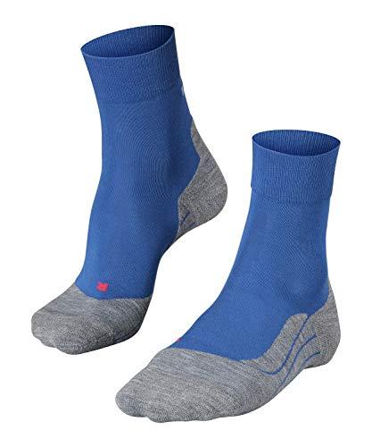 Mens 1 Pair Falke Light Volume Ergonomic Cushioned Crew Running Socks (9-10, Blue)