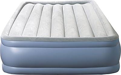 Simmons Beautyrest Hi-Loft Express Inflatable Air Mattress: Raised-Profile Air Bed with External Pump, Full