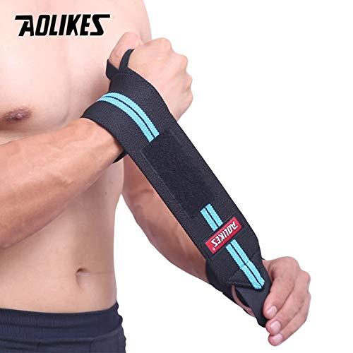 K1, Cafe AOLIKES - 1 soporte de muñeca para gimnasio y levantamiento de pesas, guantes de levantamiento de pesas, correas de agarre para barra de pesas