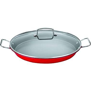 Cuisinart ASP-38CR Non-Stick Paella Pan, 15 , Red