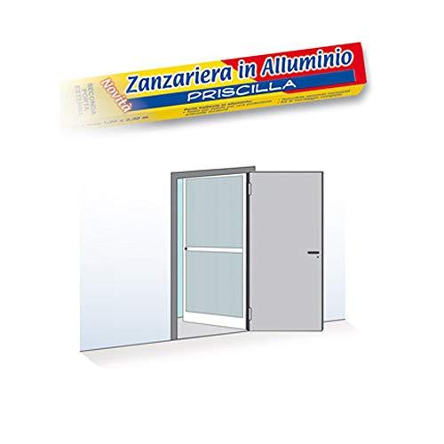 Zanzariera 1 porta battente 100x240cm riducibile bianca telaio alluminio 0950