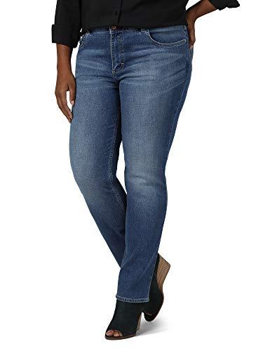 Riders by Lee Indigo Women's Plus Size Midrise Straight Leg Jean, Titanic, 18W