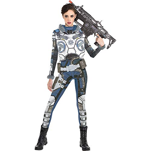 Party City Gears of War Kait Diaz Costume for Adults, Size Small, Includes Catsuit, Chest Armor, Leg Armor, and Belt