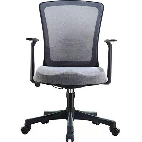 HOLPPO-Desk Silla de Ordenador, Modelo Moderno de Ministerio del Interior Volver elevación giratoria Estudiante Equipo Seat, Gris, Negro (Color : Grey)
