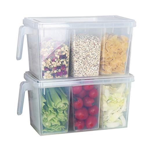 Contenedor de almacenamiento de alimentos Caja de almacenamiento de plástico con tapa plaza de manipular los alimentos de almacenamiento Caja de almacenamiento for el refrigerador del refrigerador del