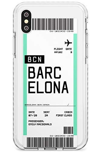 Boarding Pass Encargo: Barcelona Caja del teléfono de Impacto para iPhone X/XS, for iPhone 10 | Protector Doble Capa Parachoque TPU silikon Cubrir Modelo Impreso | Personalizado Viajero Pasión De Vi