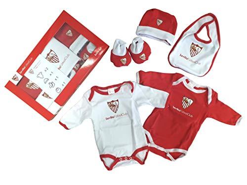 Sevilla CF Baby Set SFC - Conjunto de Ropa Unisex Bebé (Pack de 5) Multicolor (Rojo/Blanco) 0-3 Meses