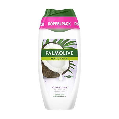 Palmolive Duschgel Naturals Kokosnuss, Doppelpack (2 x 250 ml) - Cremiges und sanftes Duschgel für weiche Haut, geeignet für jeden Hauttyp