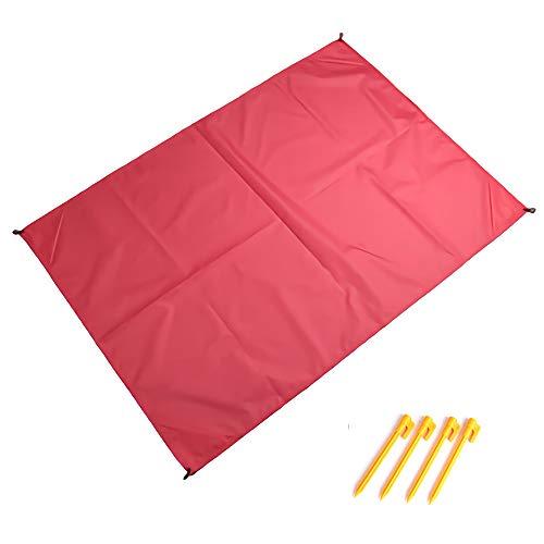 QWESHTU Picknickdecke Stranddecke Strandmatte wasserdichte Strandtuch Sandabweisende Tragbare Camingmatte,Rose,200 X 140 cm