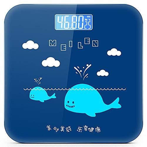 TL Intelligent Multi-Funktions-Körperfettwaage, Haushalt Elektronische Waage Körperfettwaage, ausgeglichenes Glas druckfest und langlebig, Rosa,Blau