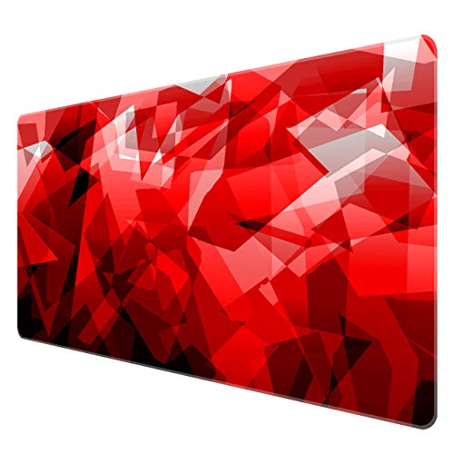 Benvo Extended Mouse Pad Large Gaming Mouse Pad- 35.4x15.7x0.12 inch Computer Keyboard Mouse Mat Non-Slip Mousepad Rubber Base and Stitched Edges for Game Players, Office, Study, Irregular Pattern