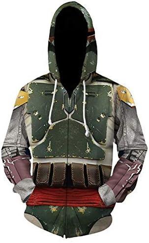 Mens Boba Fett Hoodies Jacket Halloween Cosplay Pullover Sweatshirt Costume L Style 2 product image