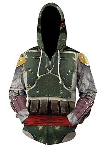 Adult Mens Hoodie Armor Hunter Print Hoodies Sweatshirt (Medium, Green jacket)