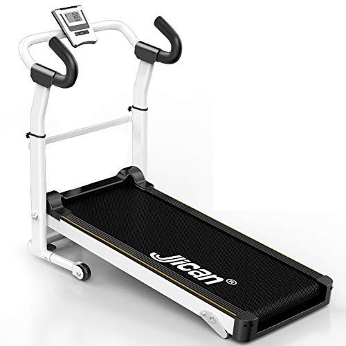 Tapis de course QFF@ Mini-Fitnessgerät für zu Hause, Nicht motorisiert, Rollmatte, mechanisch, DREI Blöcke, manuell einstellbar, maximale Belastung 150 kg/330,69 lB schwarz