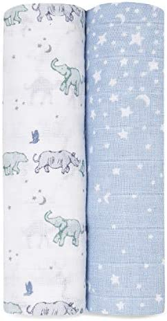 aden anais Swaddle Blanket Boutique Muslin Blankets for Girls Boys Baby Receiving Swaddles Ideal product image