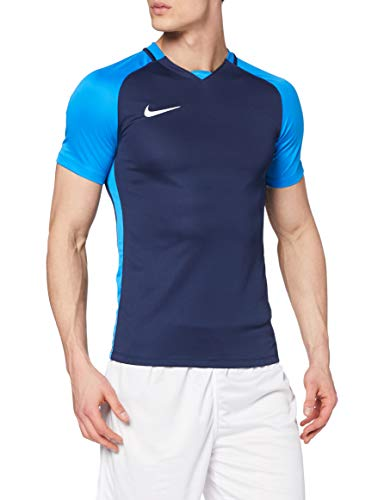 Nike Herren Trophy III Jersey Shortsleeve Trikot, Midnight Navy/Light Photo Blue/White, XL
