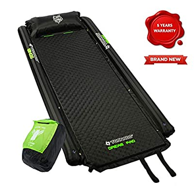 Tornado Dream Self Inflating Sleeping Pad & Camping Mat Comes with Foam Pillow and Wings | Connectable Airtight Camping Pad for Travel and Hiking | Size – XXL (195cm X 87cm X 4cm)