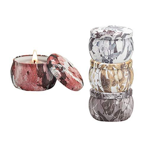 BESPORTBLE 4 Piezas Velas Perfumadas Velas sin Humo Portátiles Naturales Velas de Aromaterapia Velas Ambientalmente Decorativas para Yoga en Casa
