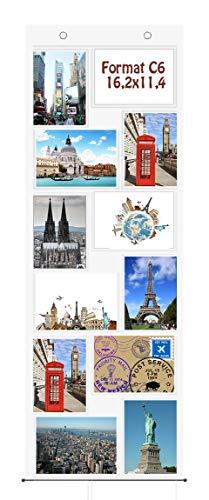 1 x Fotovorhang für 12 Fotos C6 Fotowand Bildergalerie Transparent