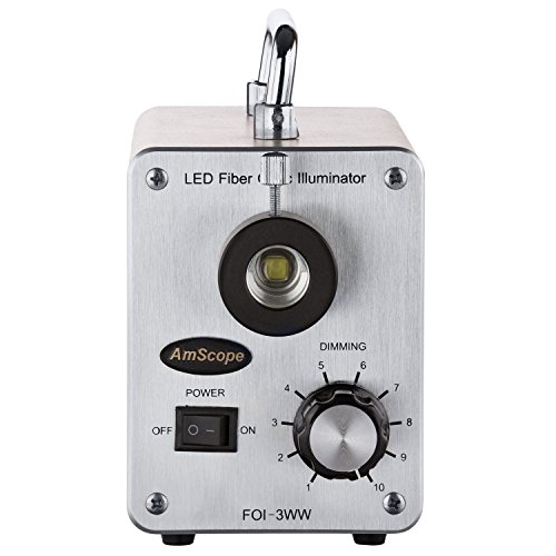 AmScope LED-30W 30W LED Cold Fiber Optic Illuminator