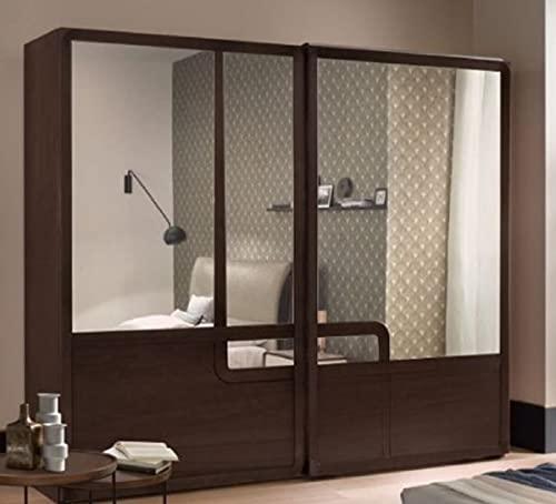 Casa Padrino Armario de Dormitorio de Lujo marrón 295 x 67 x H. 250 cm - Armario Noble de Madera Maciza con 2 Puertas correderas - Muebles de Dormitorio - Calidad de Lujo