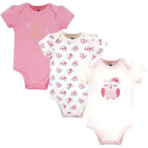 Hudson Baby Unisex Cotton Bodysuits, Free Spirit Owl, 0-3 Months