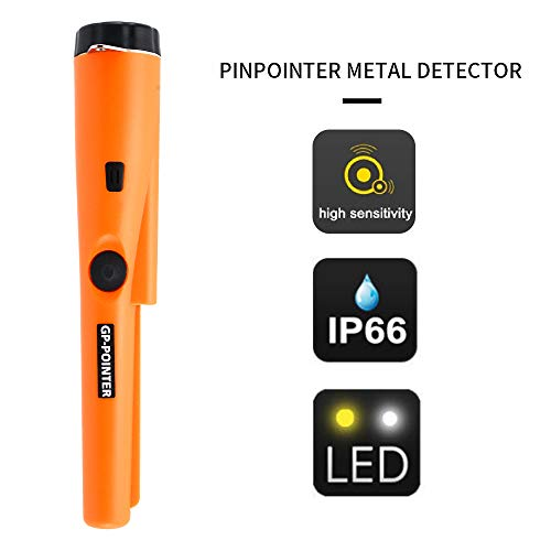 MokenEye Pin Pointer Metal Detector, IP66 Water Resistant, Handheld Metal Detector with Holster Treasure Hunting Unearthing Tool Accessories Buzzer Vibration Automatic Tuning Waterproof Detectors Metal