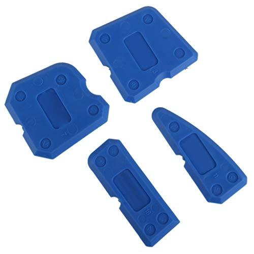 Febbya Silikon Caulking Werkzeug Kit,4 PCS Dichtmittel-Endbearbeitungswerkzeug Fugenglätter Dichtungswerkzeuge Dichtstoff Dichtungen für Badezimmer Küche Raum und Rahmen