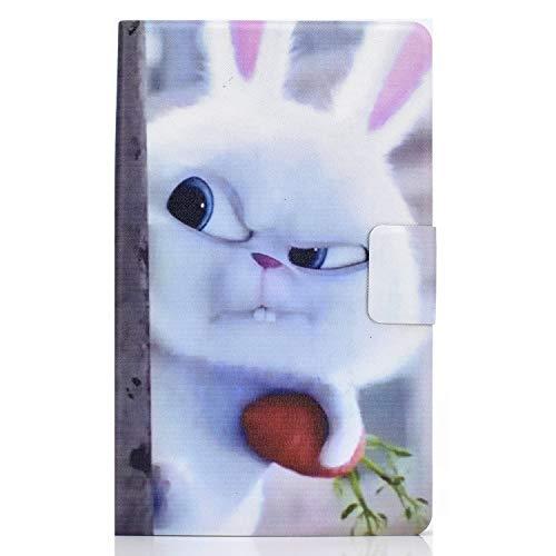 Funda para Samsung Galaxy Tab A 10.1'' 2019 Carcasa SM-T510/T515/T517 Ligero PU Cuero Flip Case con Bolsillo de Tarjeta Soporte Múltiple Ángulo, para Galaxy Tab A 10.1 Pulgada 2019, Carrot Rabbit