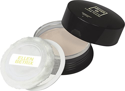 Ellen Betrix Loose Powder Transparent Natural 1, Transparentes Fixing Powder für ein mattes Finish, Mit praktischer Puderquaste und cleverem Dosierer, 1 x 59 g