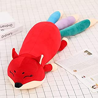 ILUTOY 100/140Cm 3 Colors Large Cute Soft Foxes Toys with Long Tail for Taking A Nap to Rest/Friends Gifts Cool Must Haves Gift Bags Childrens Favourites Superhero Party Supplies Unboxing Box