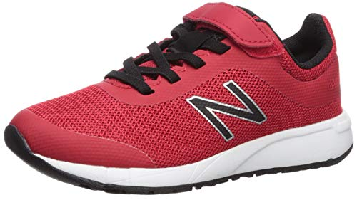 New Balance Boys' 455v2 Running Shoe, Team RED/Black, 2.5 W US Little Kid