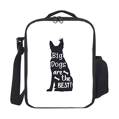 Kids Insulated Lunch Bags Lunch Box for Women with Bottle Holder Big Dogs Are The Best Fashion Large Lunchbox for Men Adult Reusable Meal Prep Bag for Work School Picnic