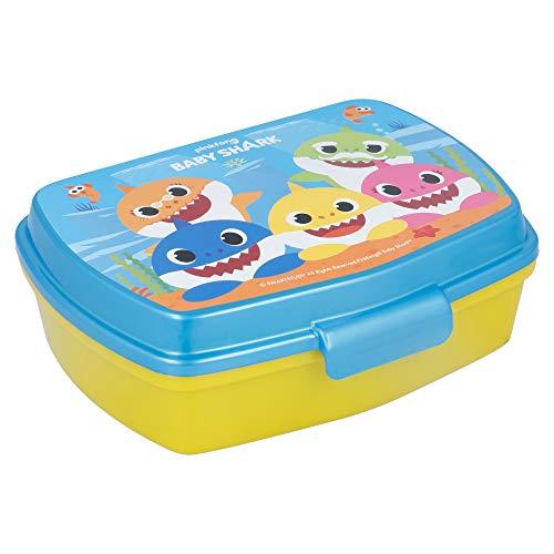 | Baby Shark | Sandwichera Para Niños Decorada - Fiambrera Infantil | Caja Para El Almuerzo Y Porta Merienda Para Colegio - Lonchera