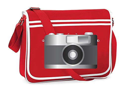 Druckerlebnis24 Schultertasche - Camera Bild Analog Alt - Umhängetasche, geeignet für Schule Uni Laptop Arbeit