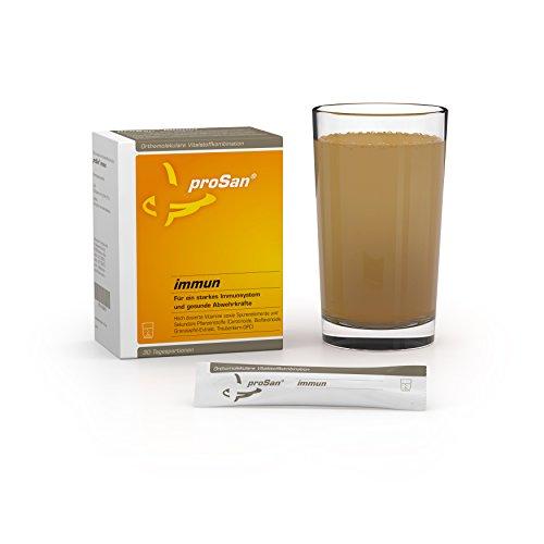 proSan® Immun Drink [30 Sticks] - Abwehrkräfte & Immunsystem stärken - Erkältungen vorbeugen - Enthält Vitamine, Spurenelemente, Polyphenole, OPC, Ingwer, Echinacea, Bioflavonoide & Carotinoide