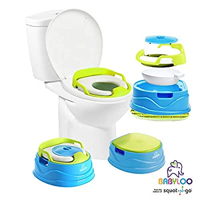 Babyloo Bambino Baby Potty 3-in-1 Multi-functional Children's Toilet Training Seat - 3 convertible stages for 6 months and up