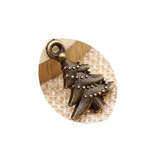 honggui 1111-20 abalorios de árbol de Navidad vintage de 21 x 14...
