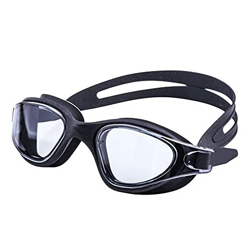 CellLucky Gafas de natación Gafas de natación Protección UV Profesional Antivaho Traje de baño de Silicona Impermeable Gafas de Buceo(Neger-)