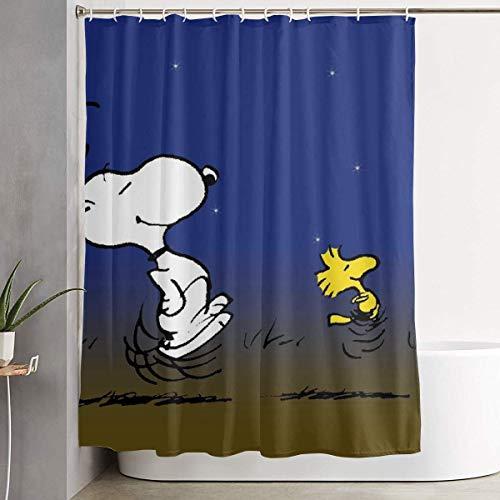 liangchunmei Lustiger Stoff Duschvorhang Snoopy Dancing Wasserdichtes Badezimmer Dekor mit Haken 60 X 72 Zoll
