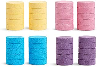 Munchkin Color Buddies Moisturizing Bath Water Color Tablets, 40 Pack, Yellow, Pink, Blue, Purple