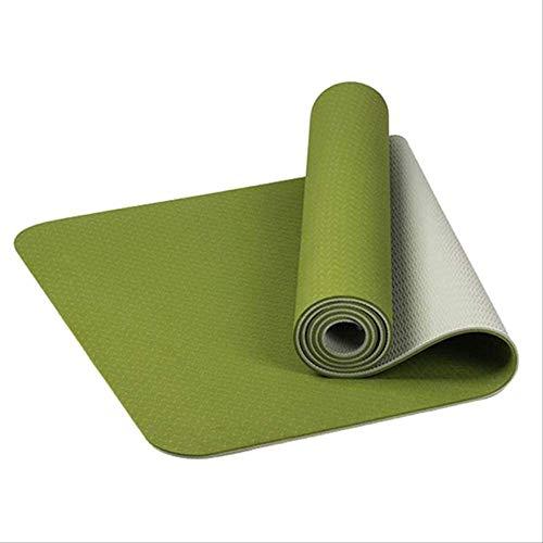 KFMJF rutschfeste TPE-yogamatten Geschmacklose Pilates-fitnessübungen Sport-Wohnzimmer-Pads Für Fitness-Bodybuilding Mit Position Line K