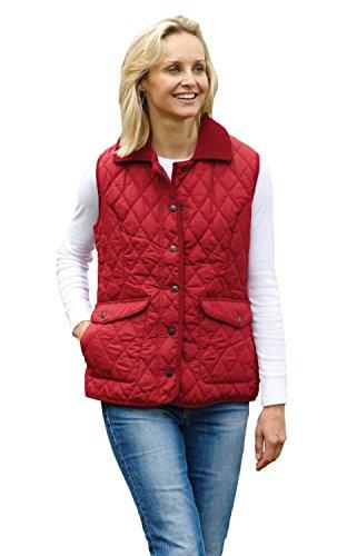 Champion Damen Frauen Country Estate Steppweste Gilet Wandern Fahren Jacke (Rot) EUR38