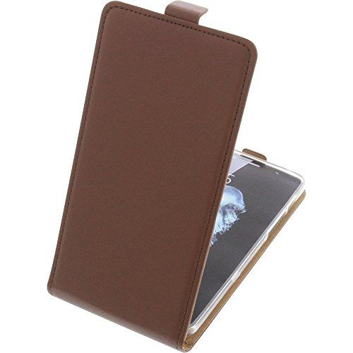 foto-kontor Tasche für Alcatel Flash Plus 2 Smartphone Flipstyle Schutz Hülle braun
