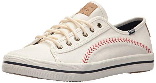 Keds Women's Kickstart Pennant Sneaker, Cream, 10 M US
