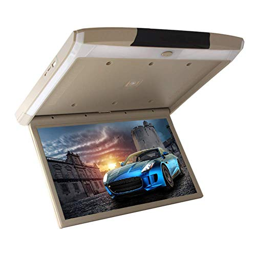 19 inch auto Android 6.0 Flip Down Monitor HDMI 1080P HD TFT LCD boven videospeler auto SD MP3 MP5 LED met USB TF HDMI WiFi Mirror Link Beige Gris