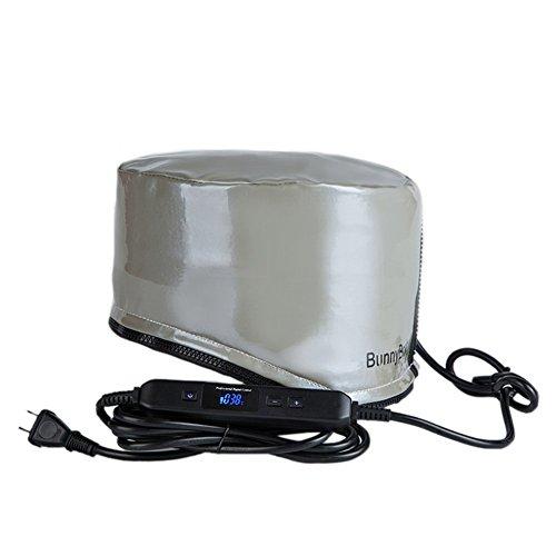 BunnyBooty ヒートキャップ ヘナ染め 加温ヘアキャップ 38°~80°温度可調節 タイマー機能 裏外防水