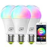 MagicLight Smart WiFi Light Bulb (No Hub Required), Dimmable Multicolor A19 E26 7W (60w Equival…